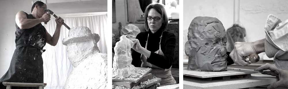 Vancouver Sculpture Studio is a fine art studio founded by Geemon Xin Meng and Ellen Scobie, offering sculpture classes, portrait commissions, figurative and abstract sculpture.