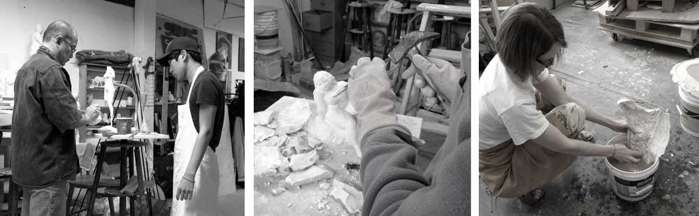 sculpture classes in vancouver by professional sculptor, Geemon Xin Meng, Vancouver Sculpture Studio